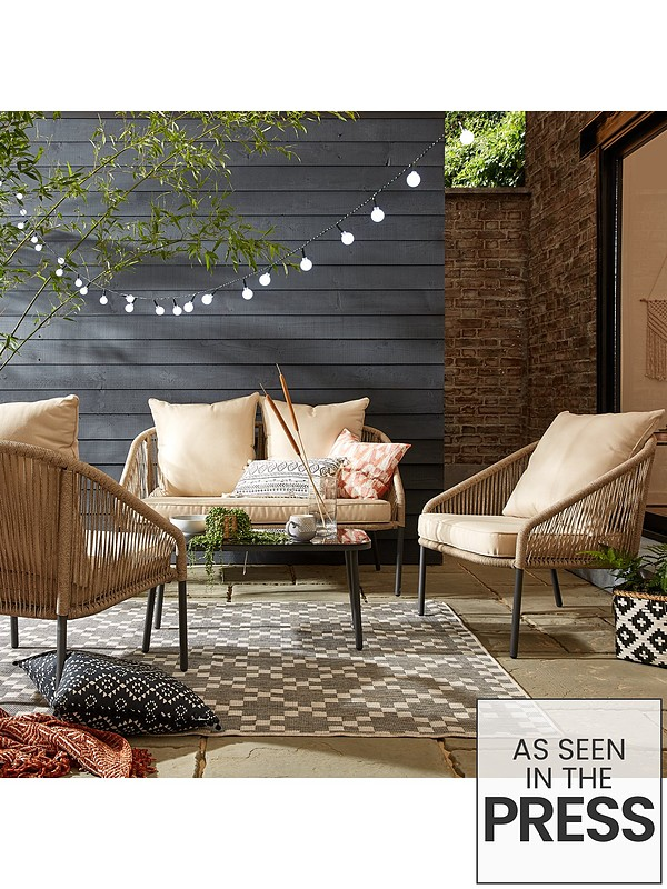 Surprising Napoli Rope Effect Sofa Set Pabps2019 Chair Design Images Pabps2019Com
