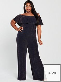 girls-on-film-curve-lurex-bardot-wide-leg-jumpsuit-navycopper
