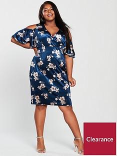 girls-on-film-curve-cold-shoulder-printed-velvet-bodycon-dress-blue