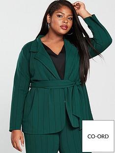 girls-on-film-curve-stripe-blazer-with-tie-waist-emerald-green