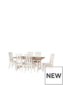 julian-bowen-pembroke-180cm-solid-wood-dining-table-6-chairs