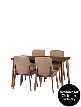 julian-bowen-kensingtonnbsp150-194-cm-solid-wood-extending-dining-table-4-chairs