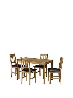 julian-bowen-coxmoor-118-cm-solid-oak-dining-table-4-chairs