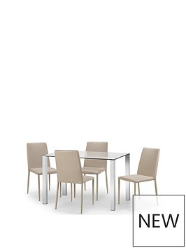 julian-bowen-enzo-120-cm-glass-and-chrome-dining-table-4-faux-leather-chairs-stone