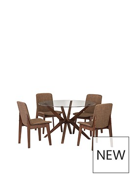 julian-bowen-chelsea-120cm-round-dining-table-4-chairs