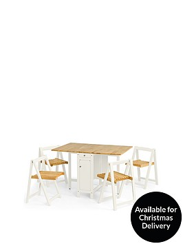 julian-bowen-savoy-120-cm-space-saver-dining-table-4-chairs