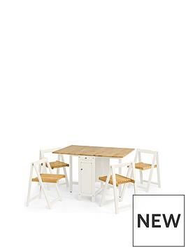 julian-bowen-savoy-120cm-space-saver-dining-table-4-chairs