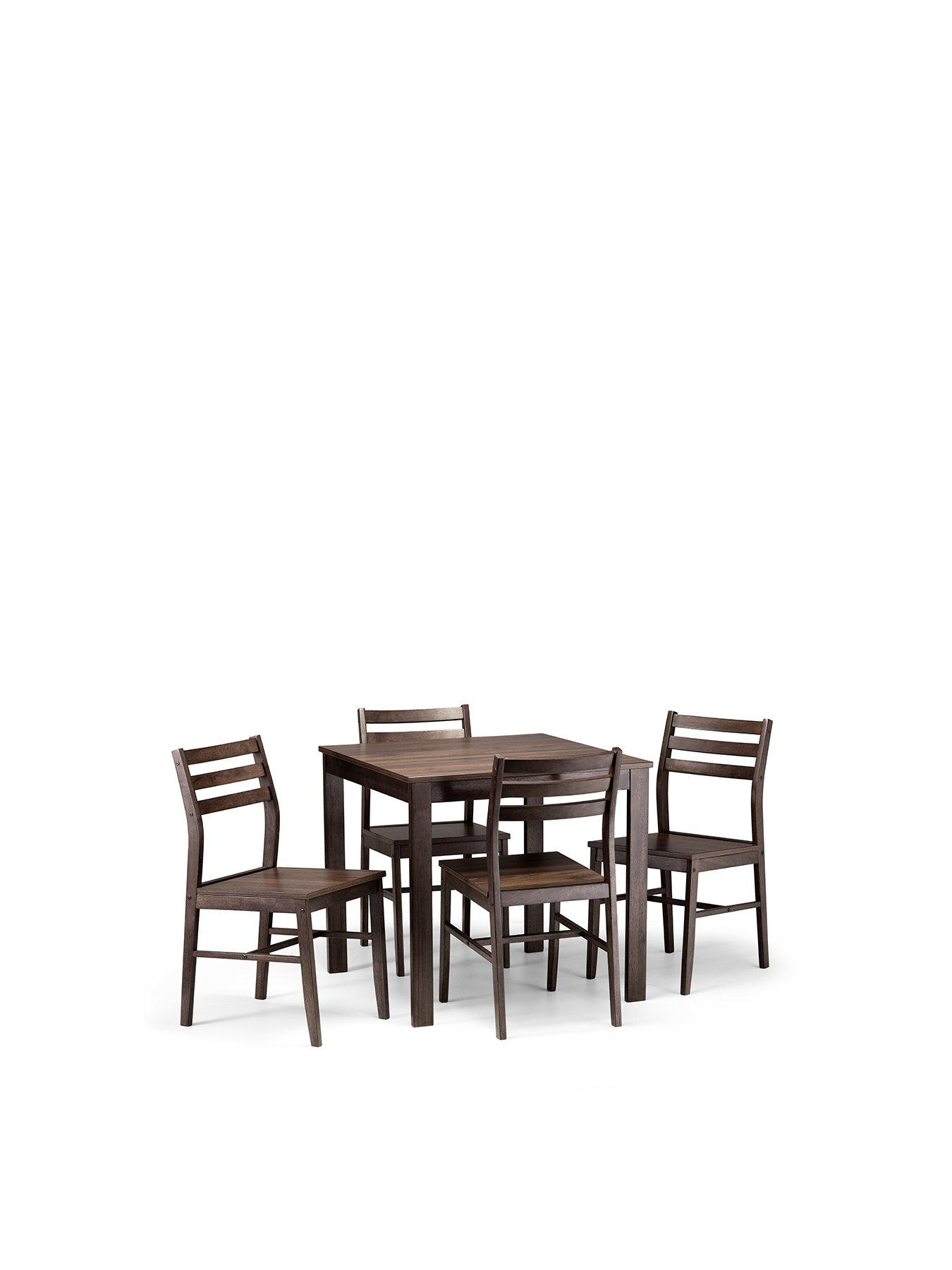 Julian Bowen Monterey 80 X 80 Cm Dining Table + 4 Chairs