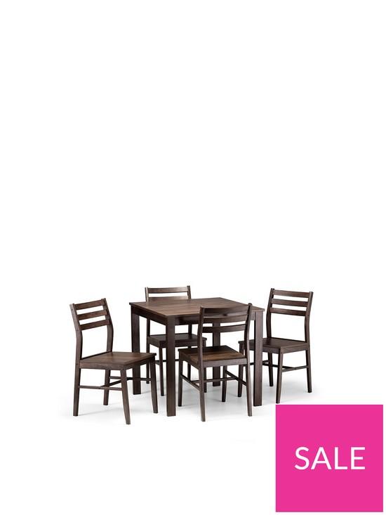 b374d6a9f8 Julian Bowen Monterey 80 x 80 cm Dining Table + 4 Chairs | very.co.uk