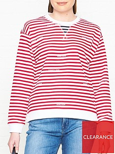 tommy-hilfiger-kellie-branded-stripe-sweatshirt-red