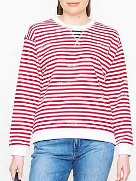 tommy-hilfiger-kellie-branded-stripe-sweatshirt-red