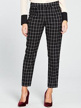 wallis-check-trouser-blacknbsp