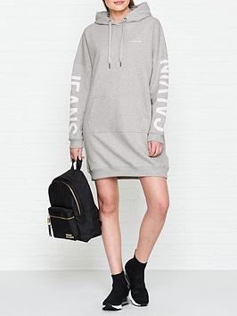 calvin-klein-jeans-institutional-logo-hooded-sweater-dress-grey