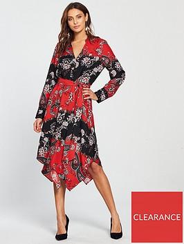wallis-paisley-shirt-dress-rednbsp