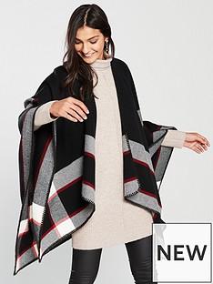 wallis-one-size-lulu-check-wrap-black