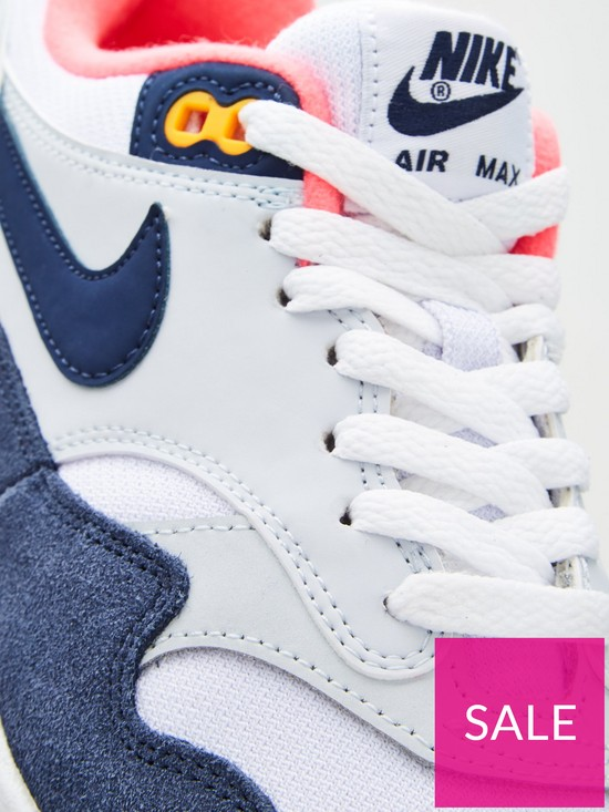 93f4b3ae97 ... Nike Air Max 1 - White/Navy. 10 people are looking at this right now.