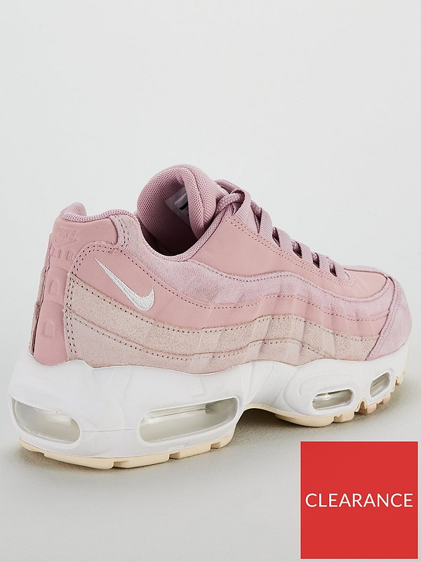 Charms Nike Air Max 95 360 White Pink Women's Shoes