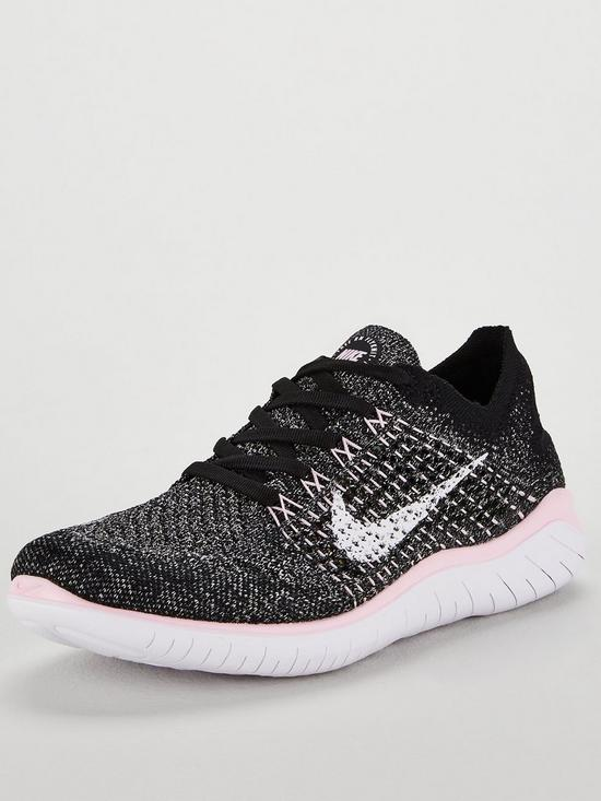 4c8382463239 Nike Free RN Flyknit 2018 - Black White Pink