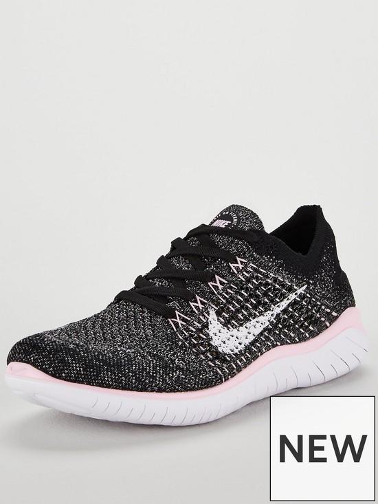 Nike Free RN Flyknit 2018 - Black White Pink  88a7e921c
