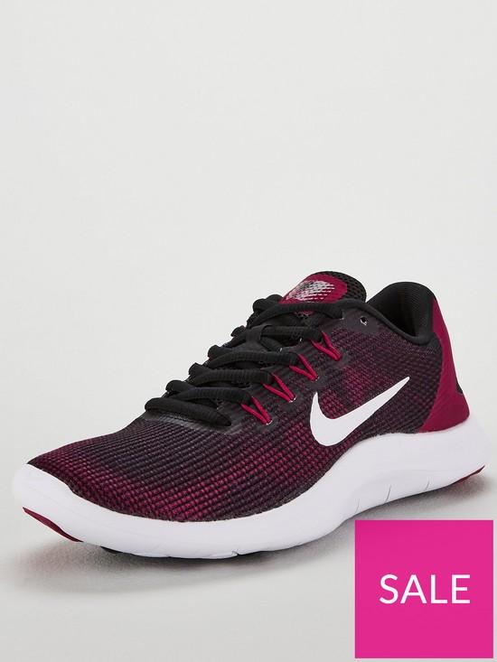 3cac874014f Nike Flex RN 2018 - Black/White/Berry | very.co.uk