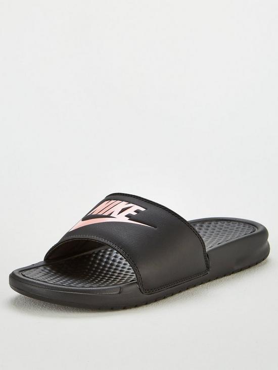 outlet store 212f9 cd0e3 Nike Benassi JDI - Black Rose Gold