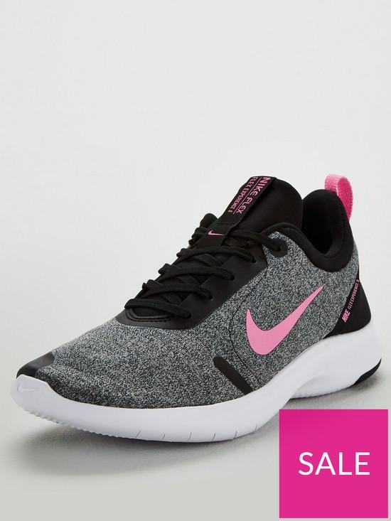 54f0be49b4 Nike Flex Experience RN 8 - Grey/Black/Pink | very.co.uk