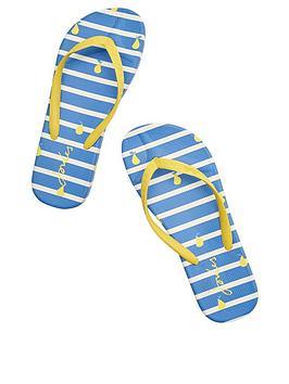 joules-flip-flops-blue-pear-stripe