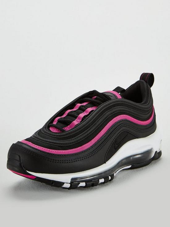 a9d45cb569b8f Nike Air Max 97 Lux - Black/Pink | very.co.uk