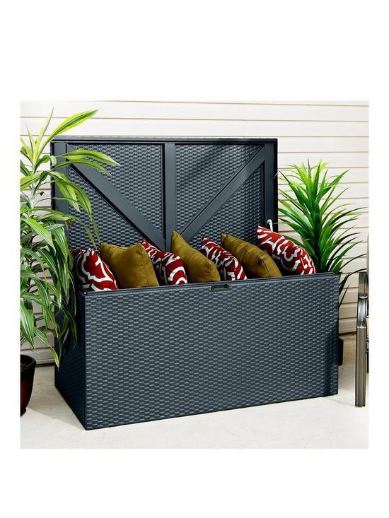Outstanding Anthracite Outdoor Metal Storage Deck Box 66 5 X 132 Cm Download Free Architecture Designs Terstmadebymaigaardcom
