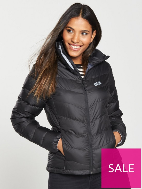 db752995f23 Jack Wolfskin Helium High Jacket - Black | very.co.uk