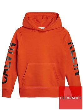calvin-klein-jeans-boys-logo-sleeved-hooded-sweat-orange