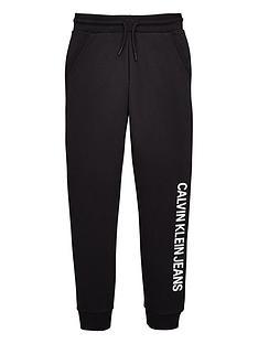 calvin-klein-jeans-boys-logo-cuffed-joggers-black