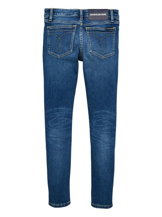 209a81ea0b2a Calvin Klein Jeans Girls Authentic Skinny Jeans - Blue | very.co.uk