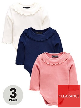mini-v-by-very-baby-3-pack-ribbed-frill-neck-bodysuits-multi-coloured