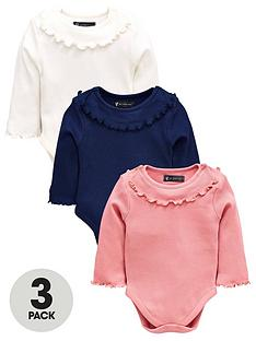 mini-v-by-very-baby-girls-3-pack-ribbed-frill-neck-bodysuits-multi-coloured