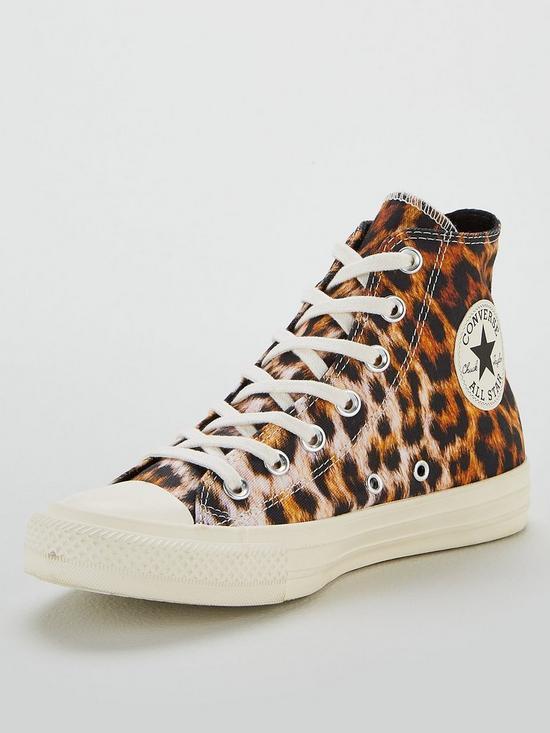b861827515bbe Converse Converse Chuck Taylor All Star Leopard Hi | very.co.uk