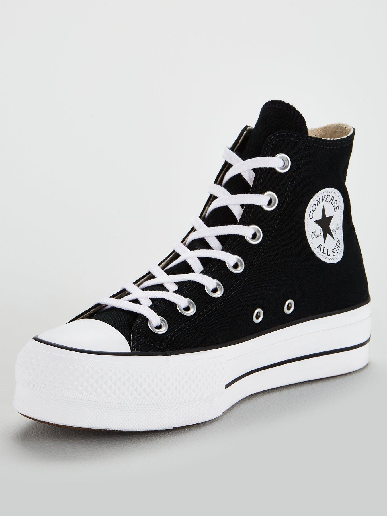 high top platform white converse