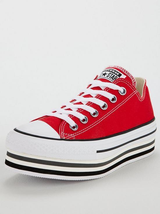 2ef007e100c7 Converse Chuck Taylor All Star Platform Layer Ox - Red
