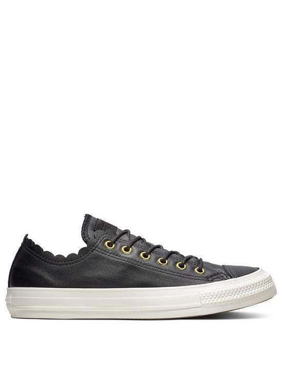 b1706716308a Converse Chuck Taylor All Leather Ox - Black White