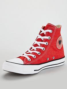 f34214e2ab4a Converse Chuck Taylor Heart All Star Hi - Red