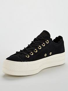 1aec865f2e Converse Chuck Taylor All Star Lift Suede Ox - Black White