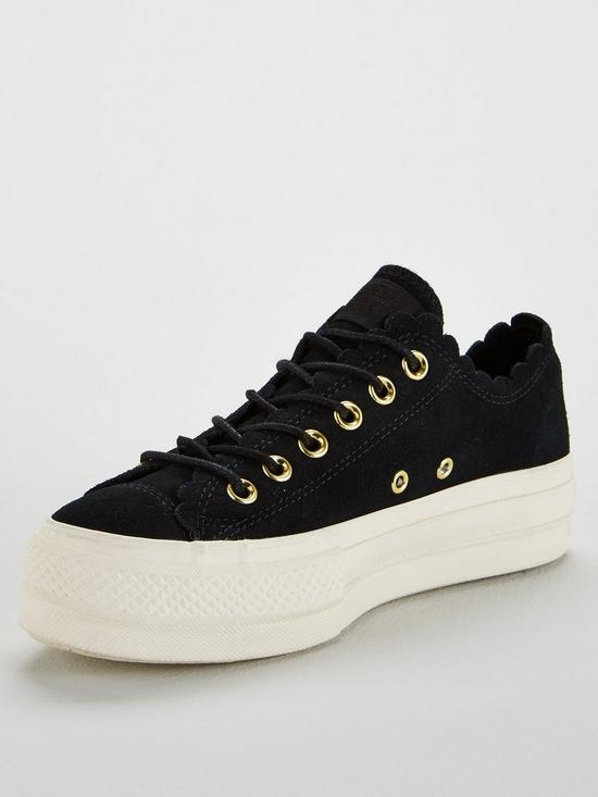 97f33f974dae6d Converse Chuck Taylor All Star Lift Suede Ox - Black White