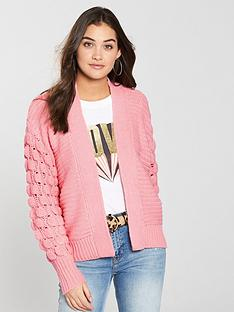 river-island-bobble-cardigan-pink