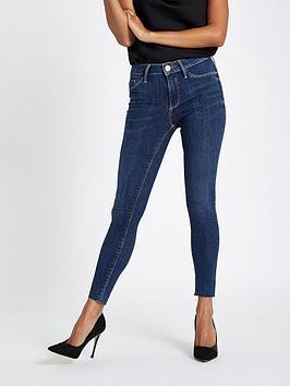 Ri Petite Molly Skinny Jeans - Mid Blue