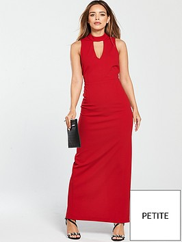 v-by-very-petite-high-neck-maxi-dress-rednbsp