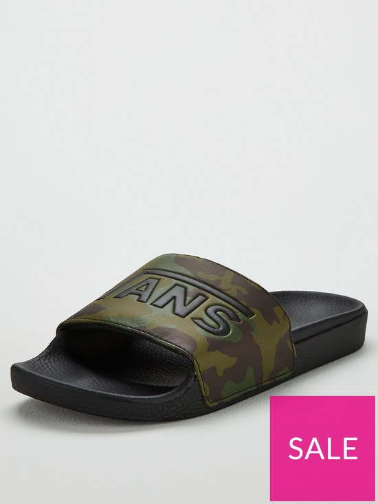 c572350c6 Vans Camouflage Sliders - Khaki | very.co.uk