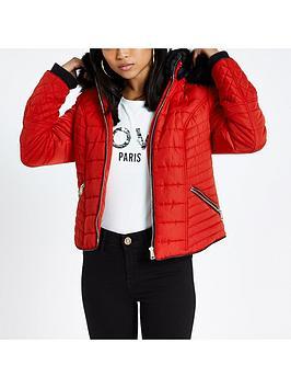 Ri Petite Padded Jacket - Red