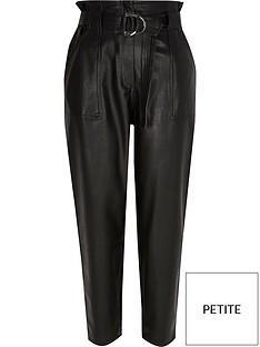 ri-petite-pu-belted-peg-trouser-black