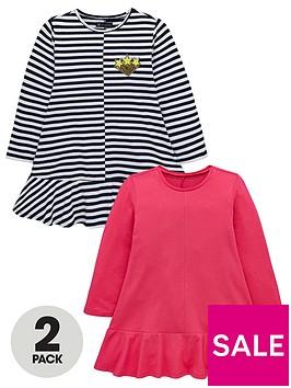 mini-v-by-very-girls-2-pack-stripe-sequin-badge-jersey-dresses-multi