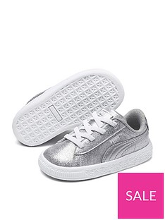puma-basket-metallic-children-trainer